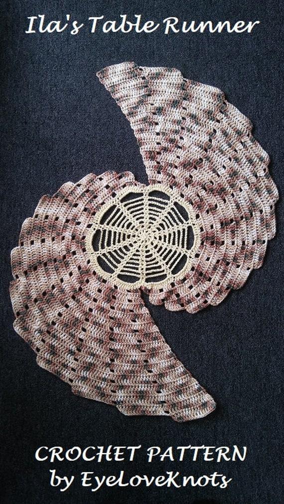 Crochet Pattern Ilas Table Runner Table Runner Crochet Etsy