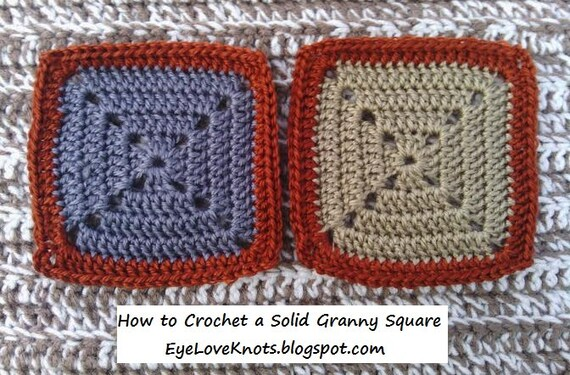 Crochet Pattern How To Crochet A Solid Granny Square Easy Etsy