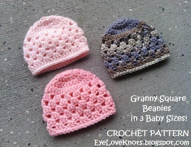 Crochet Pattern Granny Square Baby Beanie Crochet Pattern In Etsy