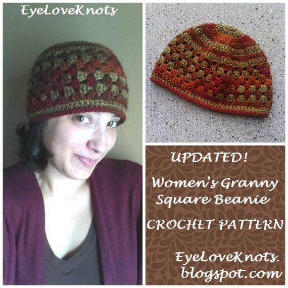 Items similar to CROCHET PATTERN - Women s Granny Square Beanie ... dfd691e65ce