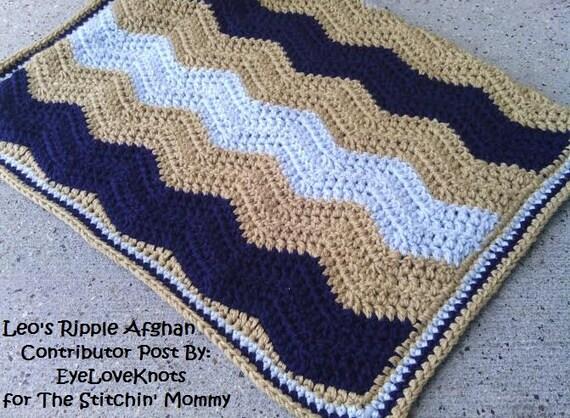 Crochet Pattern Leos Ripple Afghan Zigzag Afghan Etsy