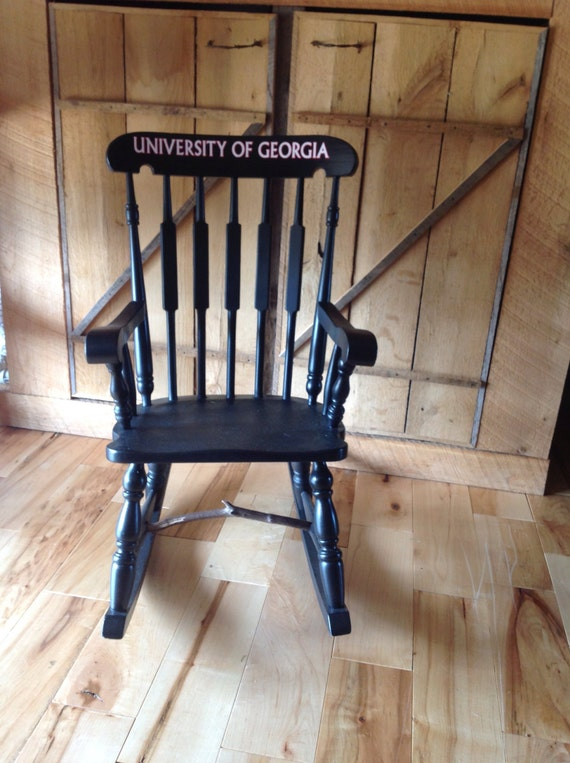 Fine Black Youth University Of Georgia Rocking Chair Gmtry Best Dining Table And Chair Ideas Images Gmtryco