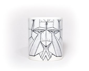 Origami Lion Coffee Mug