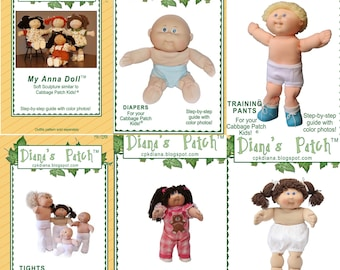 48f86f8e8a8fb1 Paper Patterns for Cabbage Patch Kids   Anna Softsculpture Doll