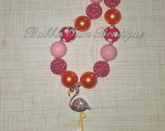 Flamingo Pendant Necklace