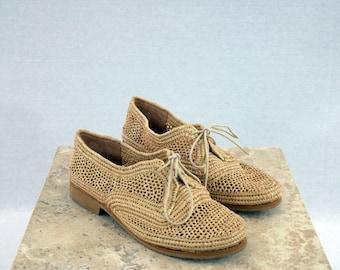 oxford raffia shoes
