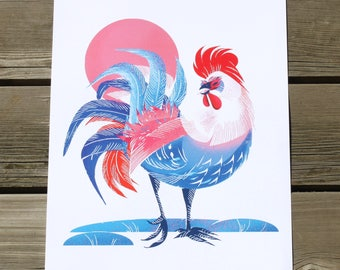 Year of the Rooster Art Print - Free Shipping!