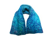 Cozy Neck and Shoulder Hot Cold Pack, Lavender and Flaxseed, Cotton, Fleece Microwave or Freeze