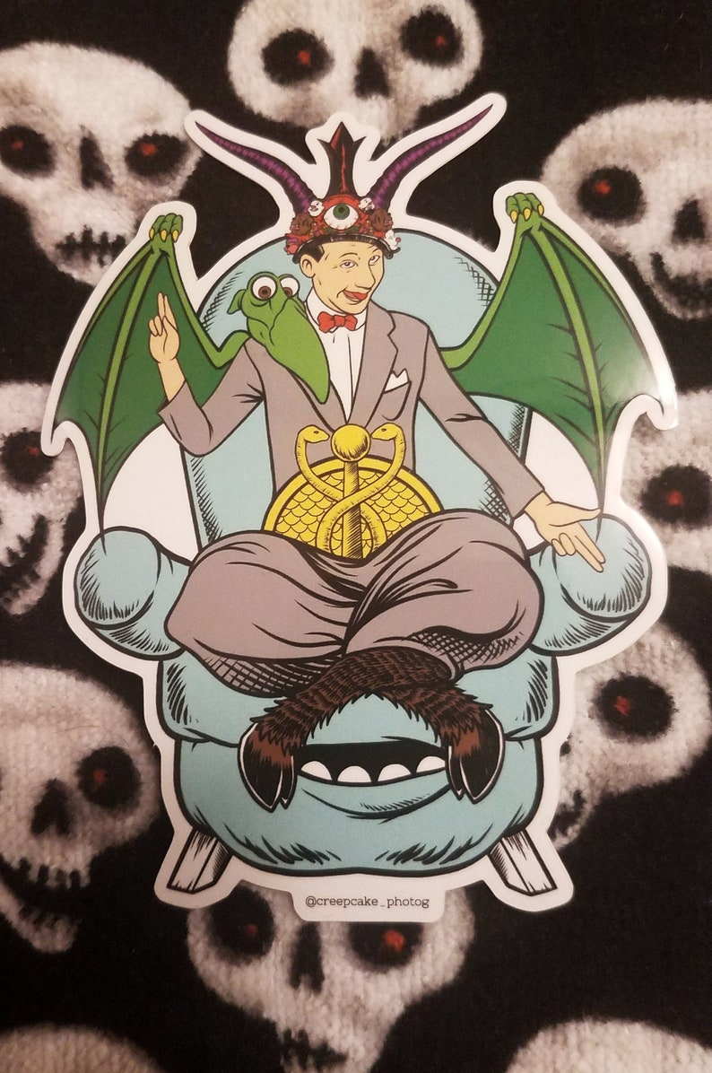 Baphomet Pee-wee Herman high quality sticker image 0