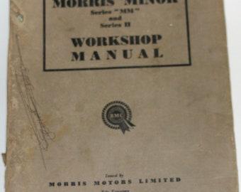 Original 1953 Morris Minor Workshop Manual