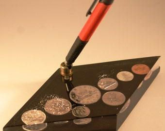 1968 Canadian Coin Set Desk Pen Stand