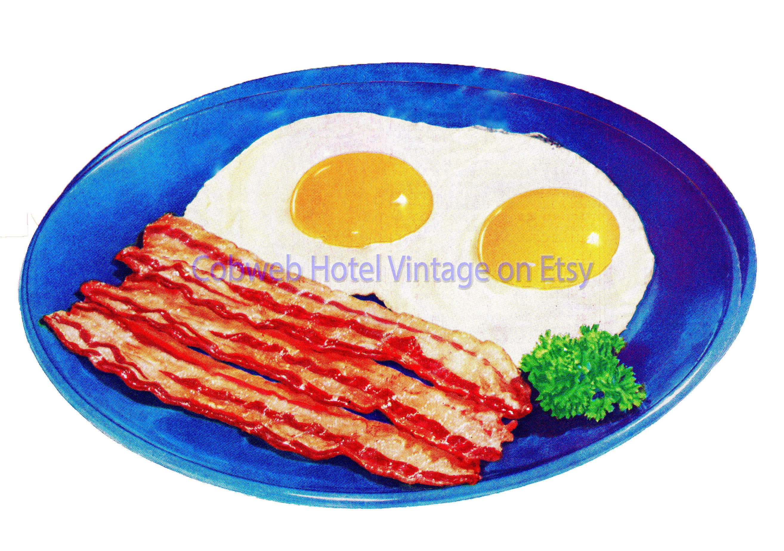 Digital Download Bacon And Eggs Clip Art Instant Download Etsy