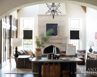 Custom Roman Shades - as featured in Atlanta Homes and Lifestyles