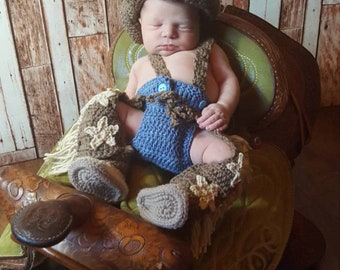 Newborn cowboy set