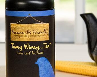 Organic tea, TIMEY WIMEY, Dr Who gift, tardis blue cornflower, fair trade earl grey, nerd gifts, British tea