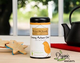 Organic chai tea, CREAMY AUTUMN CHAI, caffeine free loose leaf, organic rooibos tea, pumpkin pie dessert tea