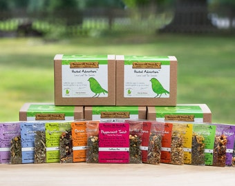 HERBAL TEA SAMPLER, loose leaf tea gift set, gift idea for stress relief, organic tea gifts to say congrats, perfect holiday gift idea