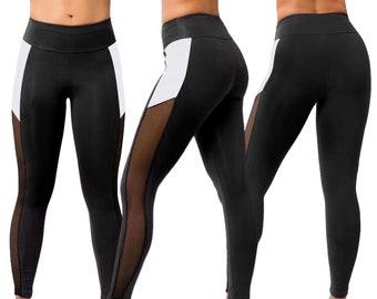 a01b57584641 Bronx NY Brazilian Workout Legging Supplex Mesh Fitness Wear Gym Clothes  Crossfit Apparel Womens Clothing Bodybuilding Capri Bottoms Pants