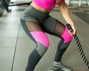 5b3e226f2520 Queens NY Hot Brazilian Workout Legging Supplex Mesh Fitness Wear Gym  Clothes Crossfit Apparel Womens Clothing Bodybuilding Bottoms Pants