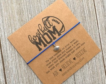 Wish Bracelet, Football Mom Wish Bracelet, Football Bracelet, Football Party Favors, Football Gifts, Football Team Gift, Sport Fan Gift