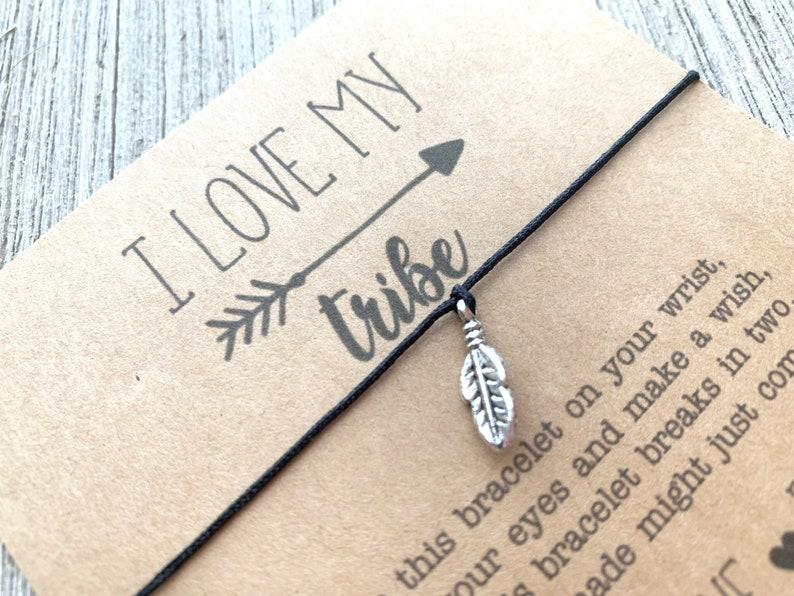 Friend Gift Wish Bracelet I Love my Tribe Wish Bracelet Friendship Bracelet Arie /& Co Best Friend Bracelet Leaf Wish Bracelet