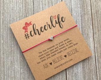 Cheerlife Wish Bracelet, Cheer Coach Gifts, Cheerleader Gifts, Cheer Camp Gifts, Cheer Team Gift, Wish Bracelet