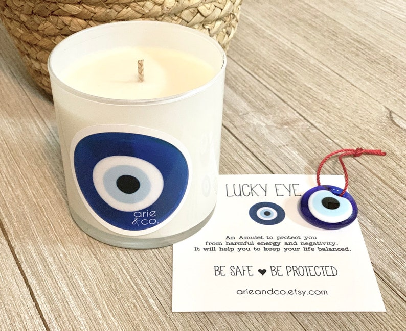 Soy Wax Candles Scented Candle Natural Candle Handcrafted Soy Wax Candle Lucky Eye Gift Candle Custom Gift