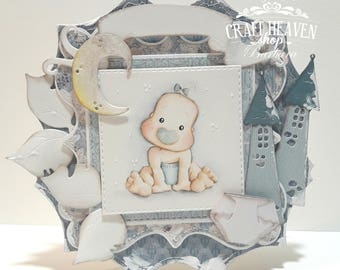 OOAK Magnolia  Tilda Baby Born card