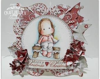 OOAK Magnolia  Tilda Birthday Card Christmas card