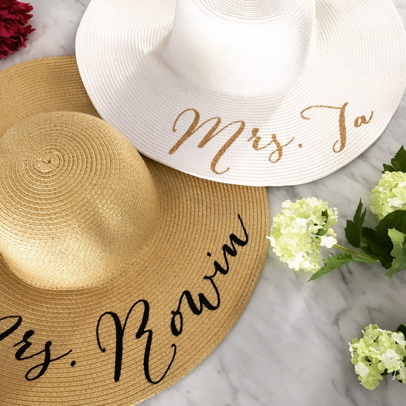 ee42d784 Floppy Beach Hat Floppy Sun Hat Bride Hat Custom | Etsy