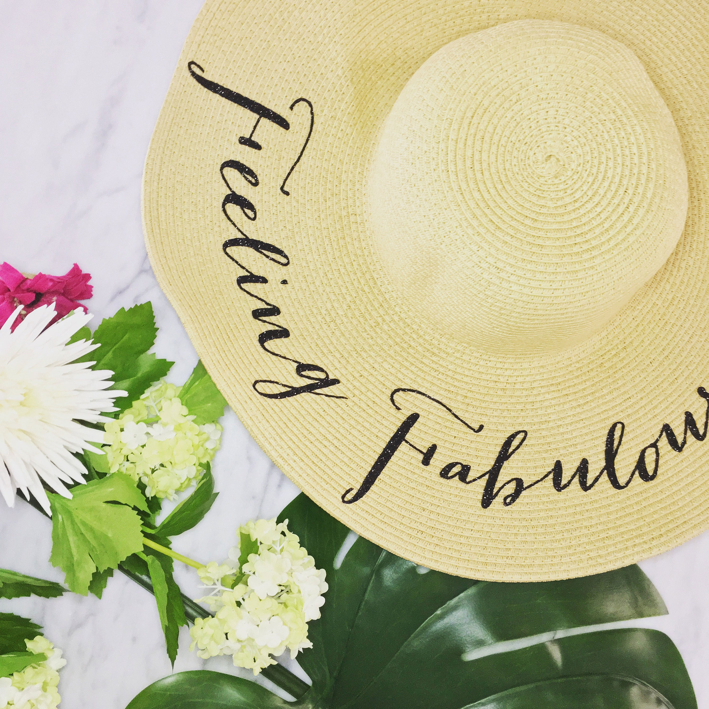 62c64f82288 Floppy Beach Hat Wide Brim Straw Hat Floppy Sun Hat Custom