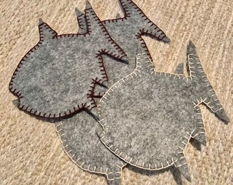 Chinook Salmon Felt Coaster Set