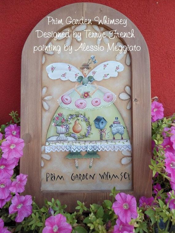 prim garden whimsey email pattern packet by alessio meggiato etsy - Prim Garden