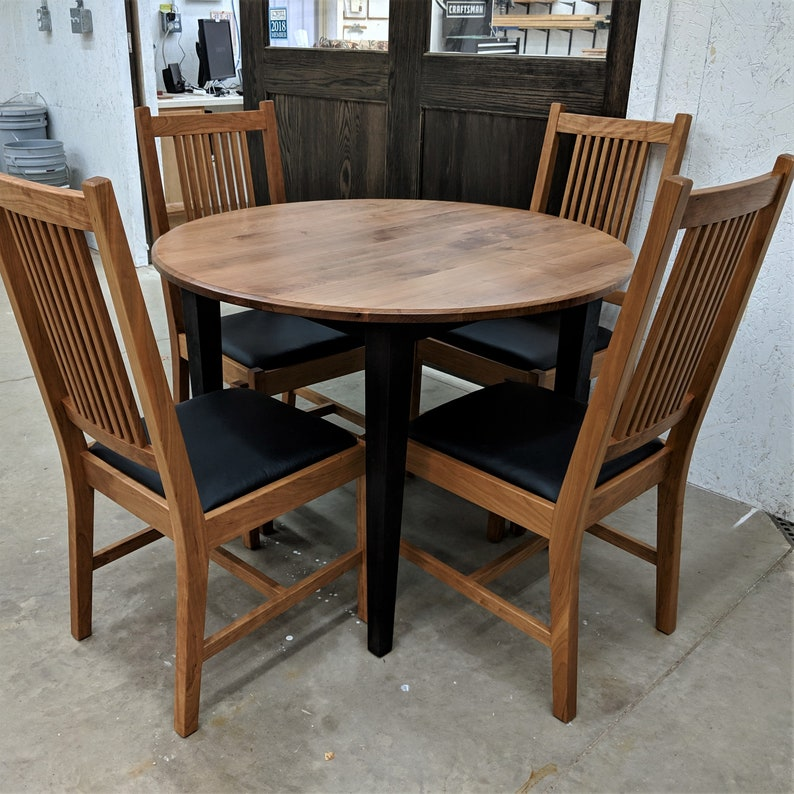 Solid Cherry Dining Set (extension Table + 2 Chairs)