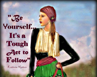 BE YOURSEF....Art by Anita....Prints and Cards ......No Zen to Zany mark on products sold.