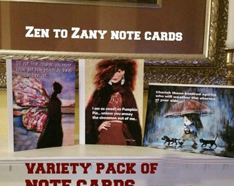 NOTE CARDS.....  CHOOSE designs and leave Item numbers in Notes...Or choose a Variety pack chosen by seller
