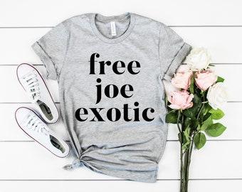 Free Joe Exotic t-shirt, Tiger king t-shirt, adult unisex t-shirt, Social Distance shirt, Popular Shirts, Funny Gift