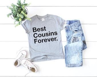 Best Cousins Forever t-shirt, trendy kid's t-shirt, Toddler gift, Kids Birthday Shirt, Family Reunion Shirts, Trendy kids tee, cousin