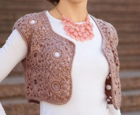 Crochet Bolero Pattern Etsy