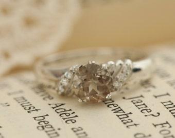 Oregon Sunstone in Sterling Silver Ring, Style VM