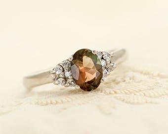 Oregon Sunstone in Sterling Silver Ring, Style VK