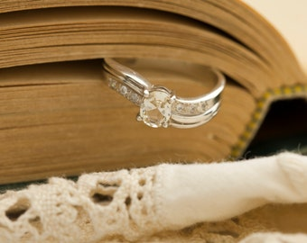 Oregon Sunstone in Sterling Silver Ring, Style VC