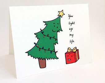 Cute Christmas Puns.Cute Christmas Card For Significant Other Otter Pun Card Etsy