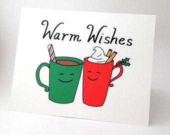Warm Wishes Card Etsy