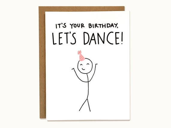 Cute And Funny Birthday Card Its Your Birthday Etsy