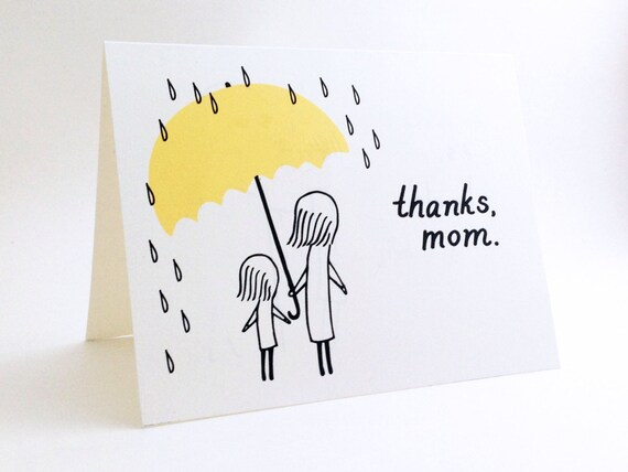 Simple Mothers Day Card Cute I Love You Card For Mum Etsy
