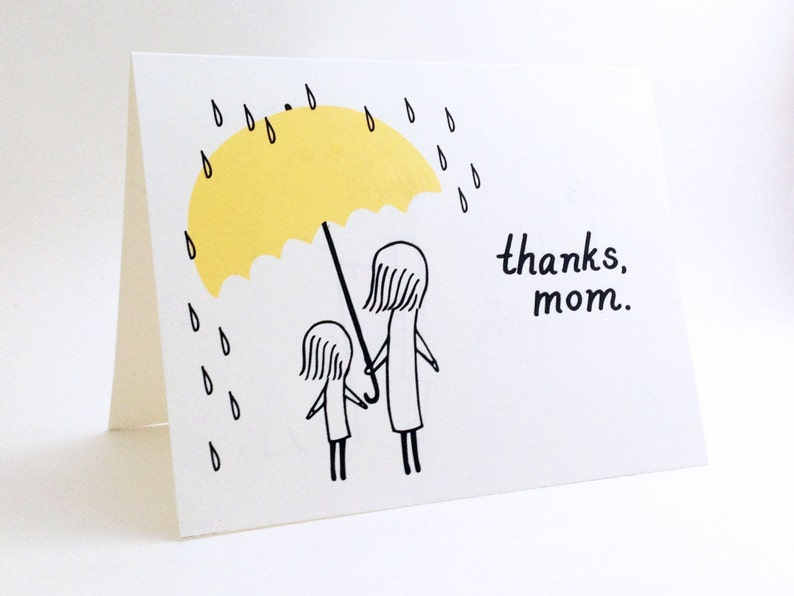 Simple Mothers Day Card Cute I Love You For Mum