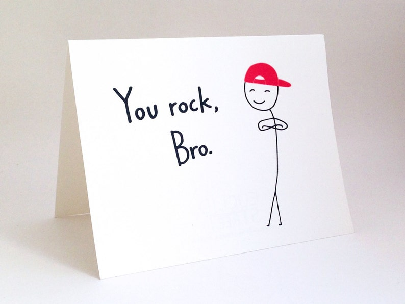 Funny Brother Birthday Card Humorous Friend Thank You