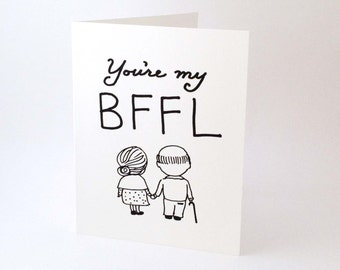Witty Love Card // Best Friend Card // Funny Romantic Card // Romantic Birthday Card // Cute Valentine's Day Card // You're My BFFL