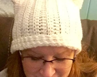 Crocheted Cat Hat